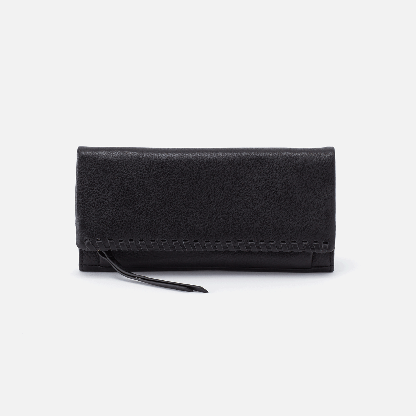 HOBO Wade Large Trifold Wallet in Black