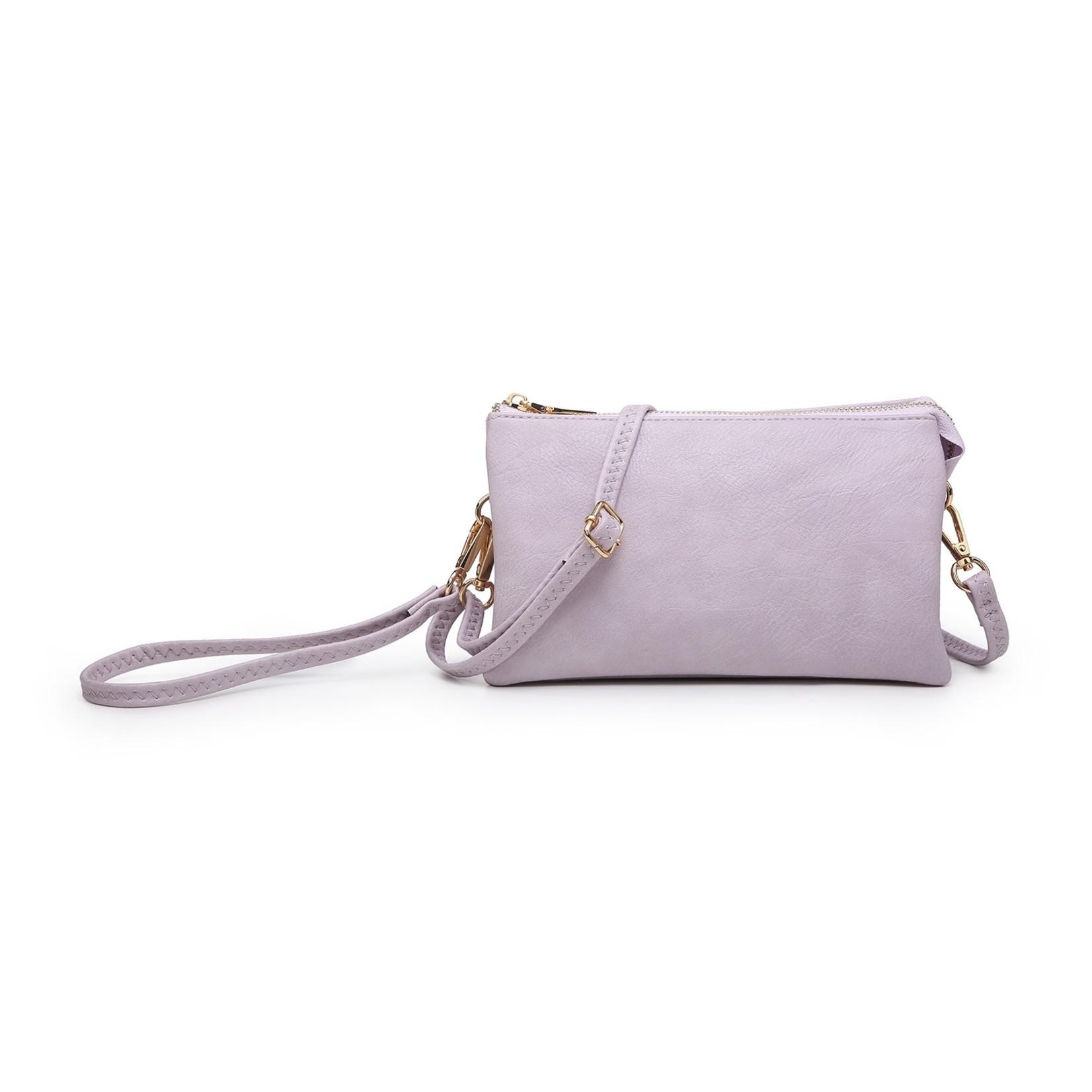 Riley - Vegan Leather Double-Sided Wristlet/Crossbody - Lavender (LV)