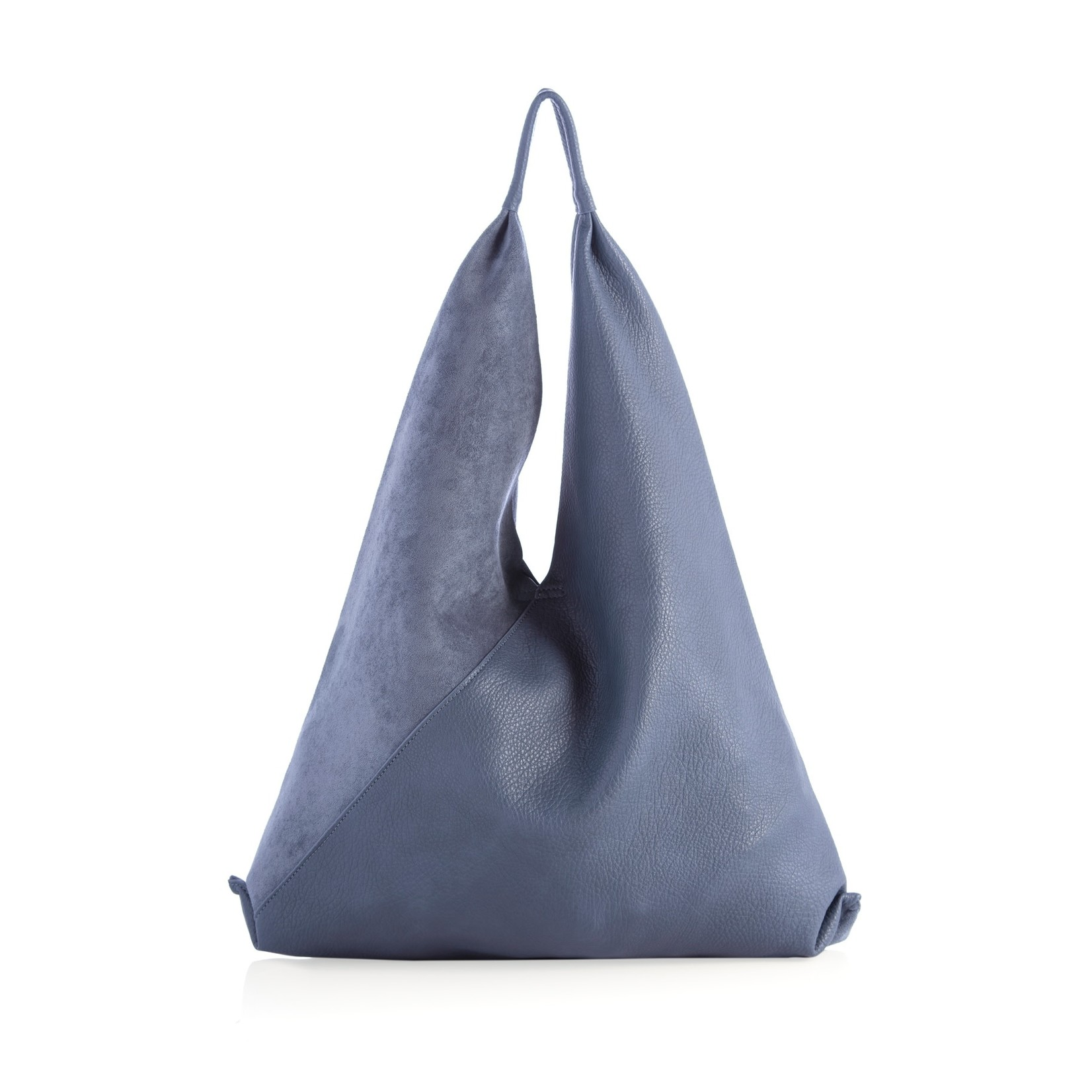 Shiraleah Chicago Vegan Leather Slouch Tote Steel