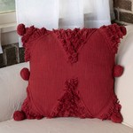 Foreside Home and Garden MM - Hand Woven Betty Pillow in Burgundy