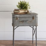 Foreside Home and Garden MM - Devon Suitcase Aluminum Side Table