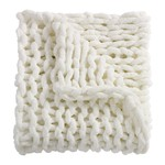 Ivory Chenille Chunky Knit Throw