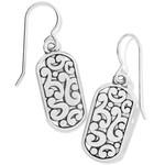 Brighton Contempo Token Tag French Wire Earrings - Silver