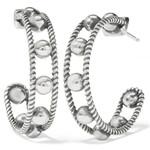 Brighton Sonora Hoop Earrings - Silver