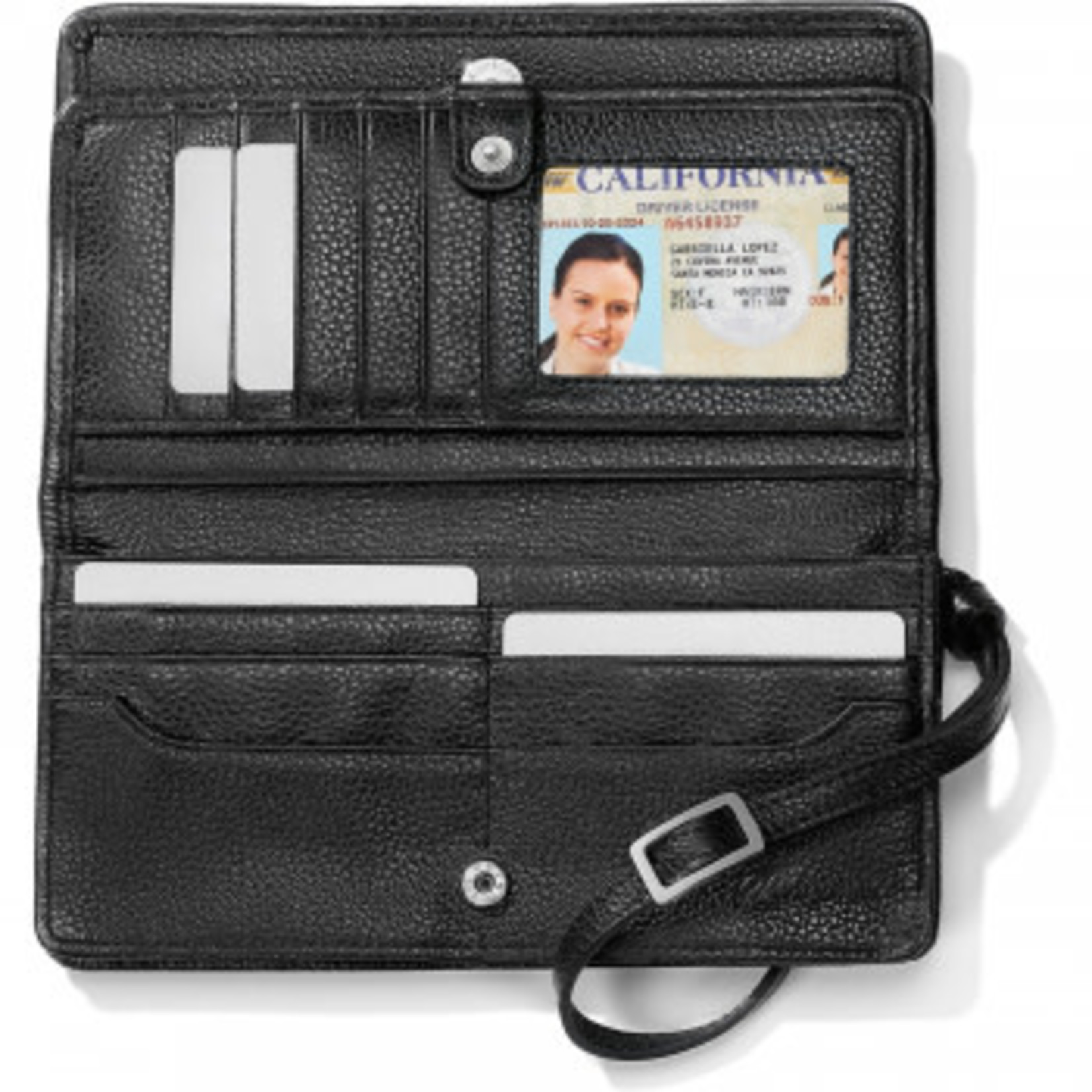 Brighton Interlok Large Wallet Black