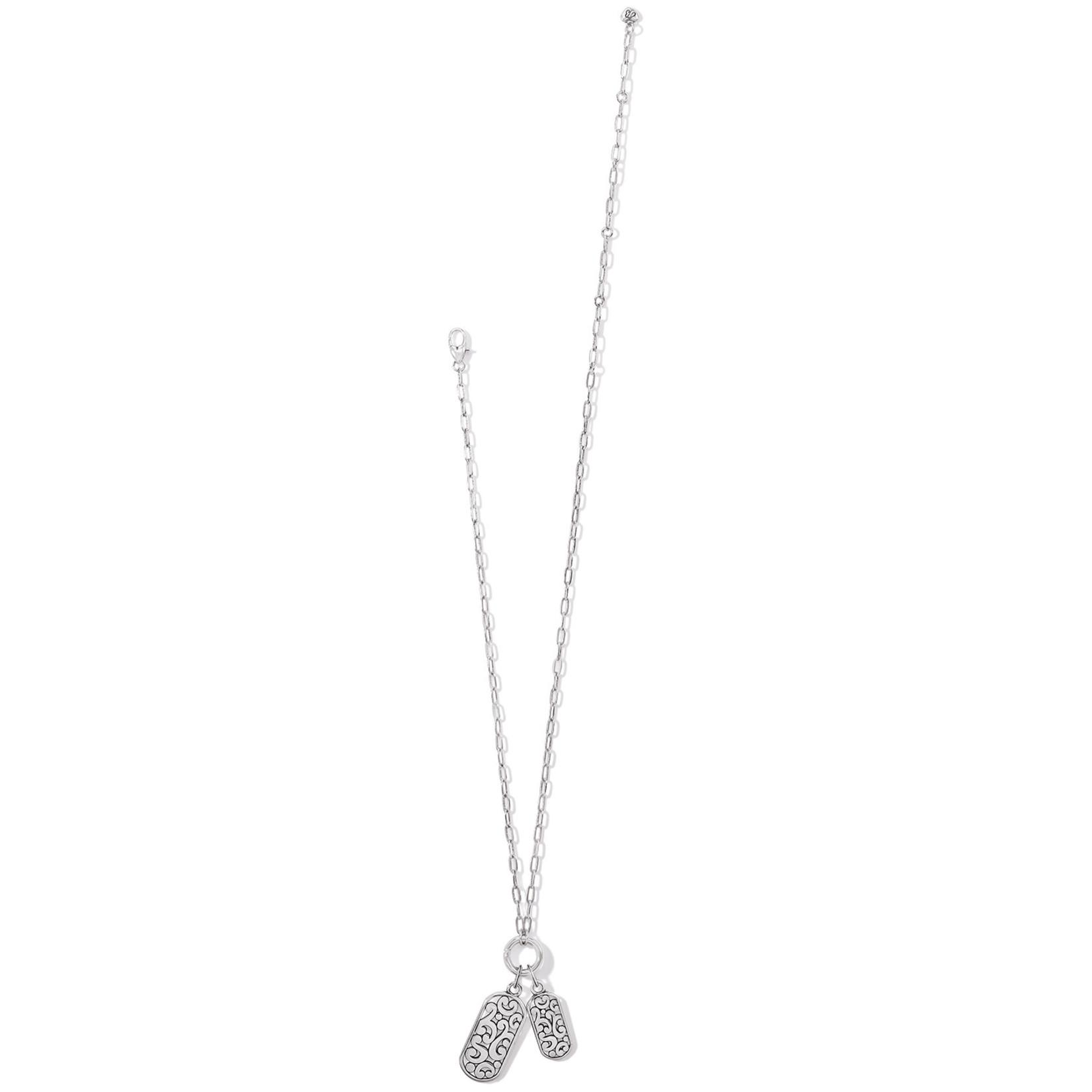 Brighton Contempo Token Tag Charm Necklace - Silver