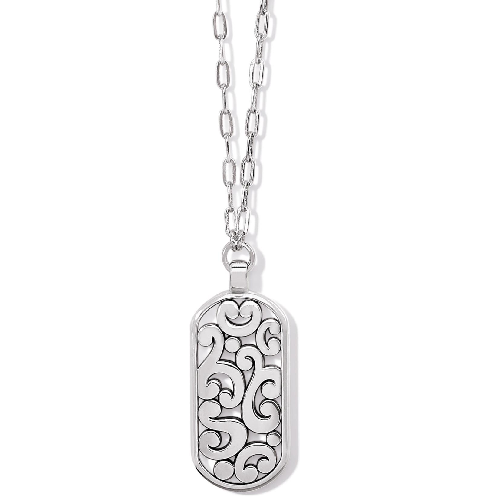 Brighton Contempo Token Tag Long Necklace - Silver