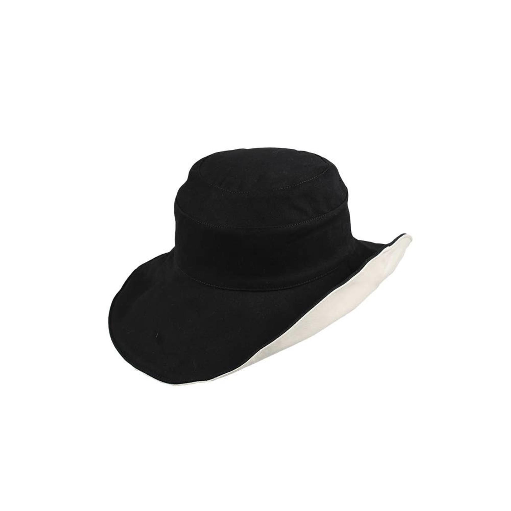 Jeanne Simmons Reversible Cloth Hat Black/Cream