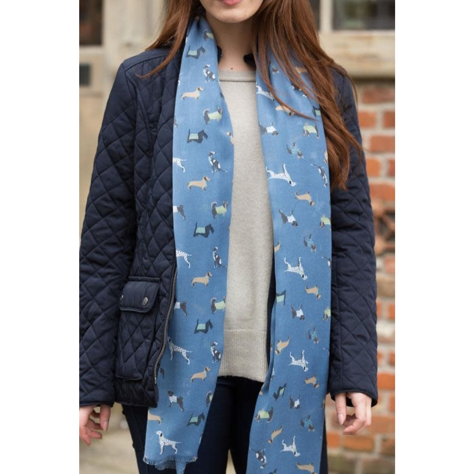 Peony Accessories Paws Scarf in Navy