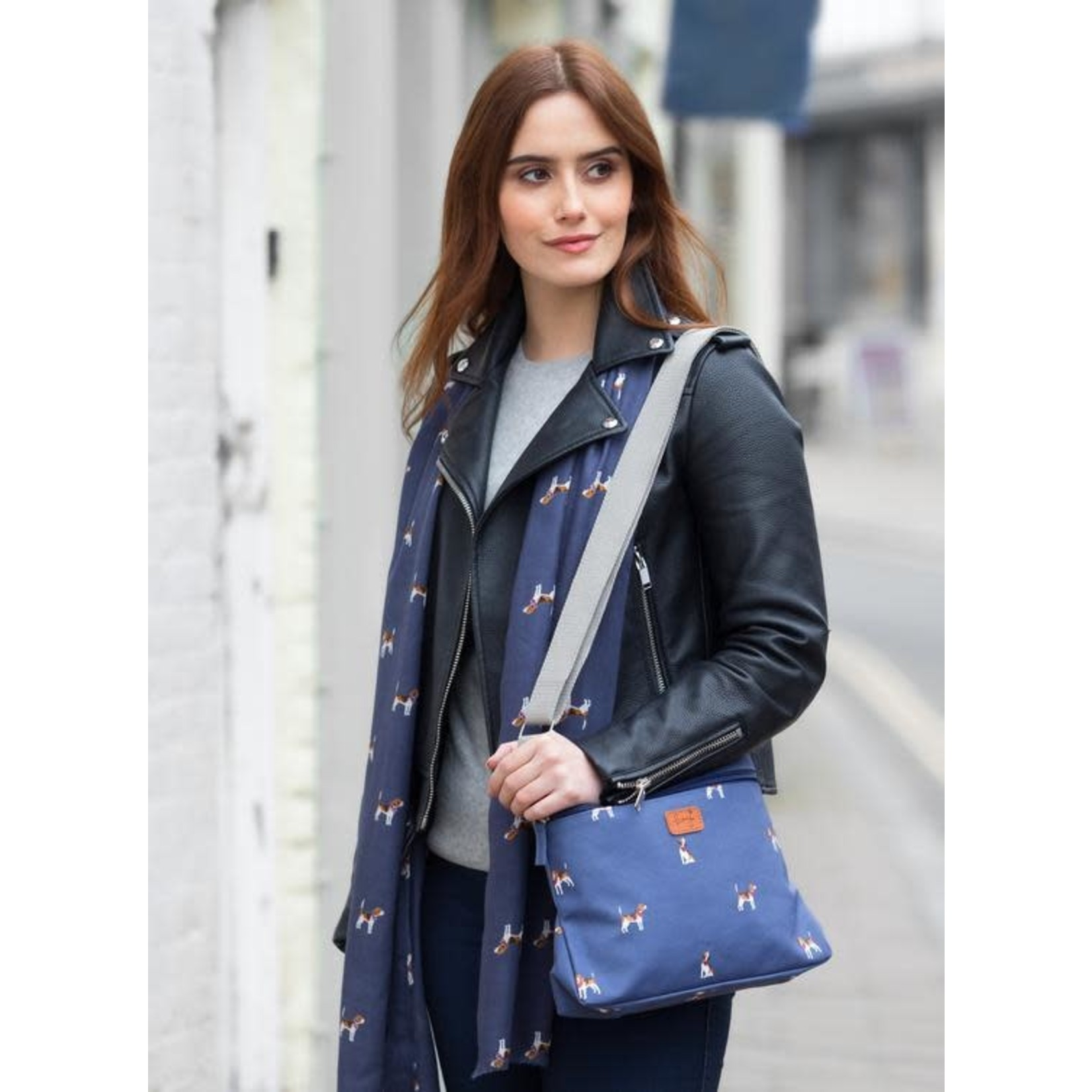 Peony Accessories Beagles Scarf in Navy