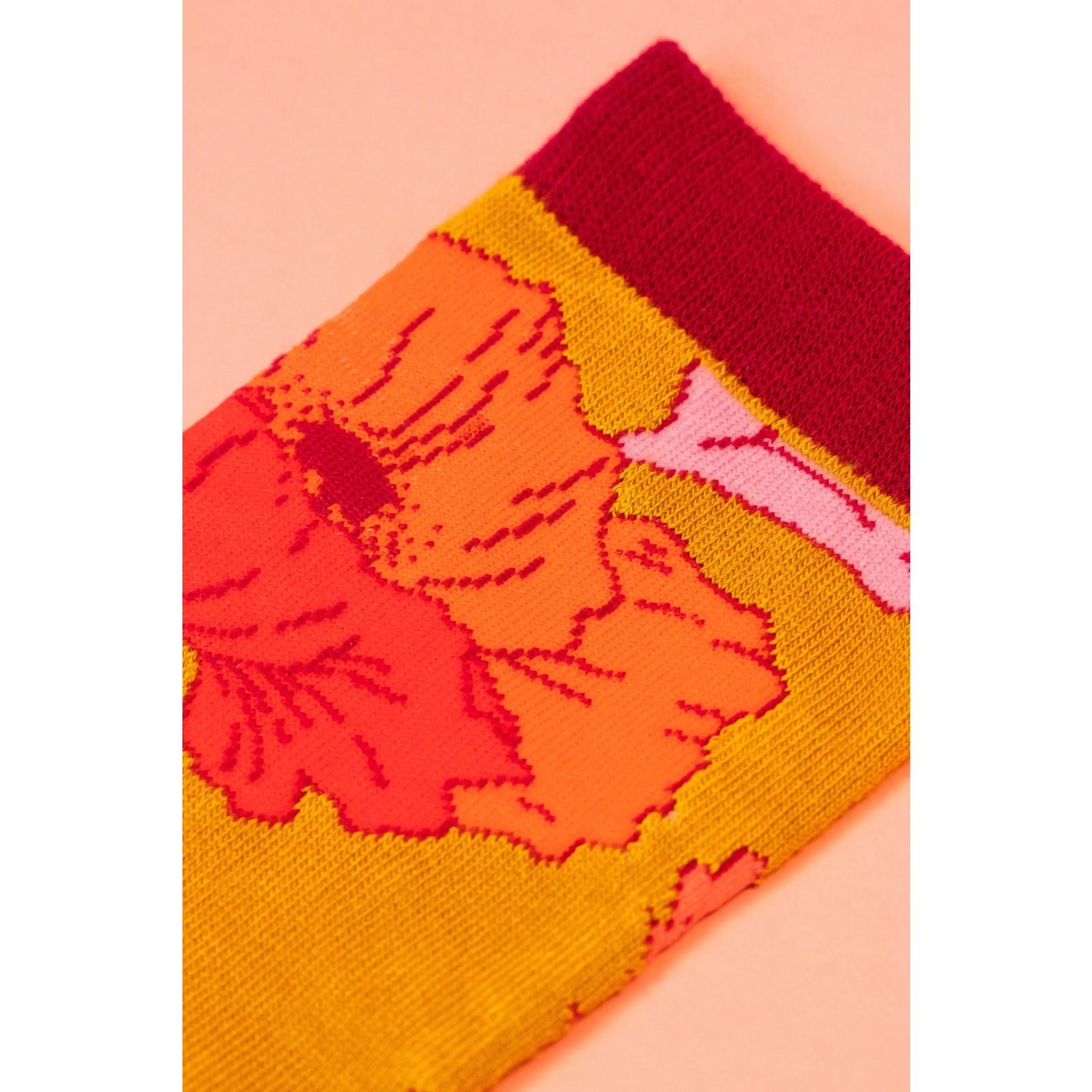 Powder Poppy Ankle Socks in Yellow
