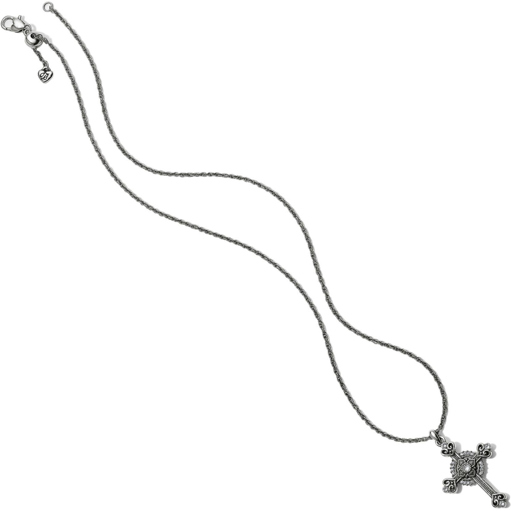 Brighton Alcazar Heart Small Cross Necklace