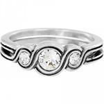 Brighton Infinity Sparkle Ring Silver 6