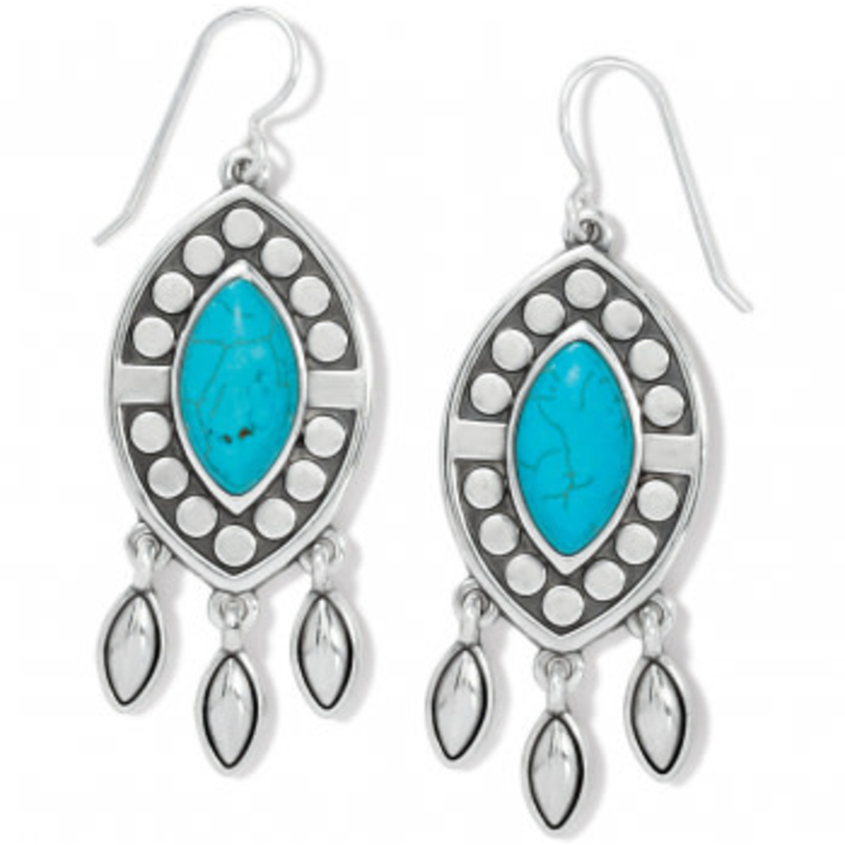Brighton Pebble Dot Dream French Wire Earrings - Silver-Turquoise, OS