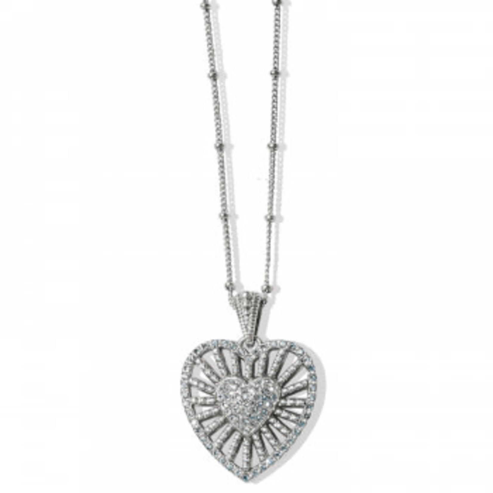 Brighton Illumina Heart Burst Necklace - Silver