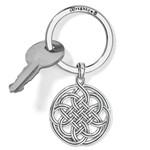 Brighton Interlok Medallion Key Fob - Silver