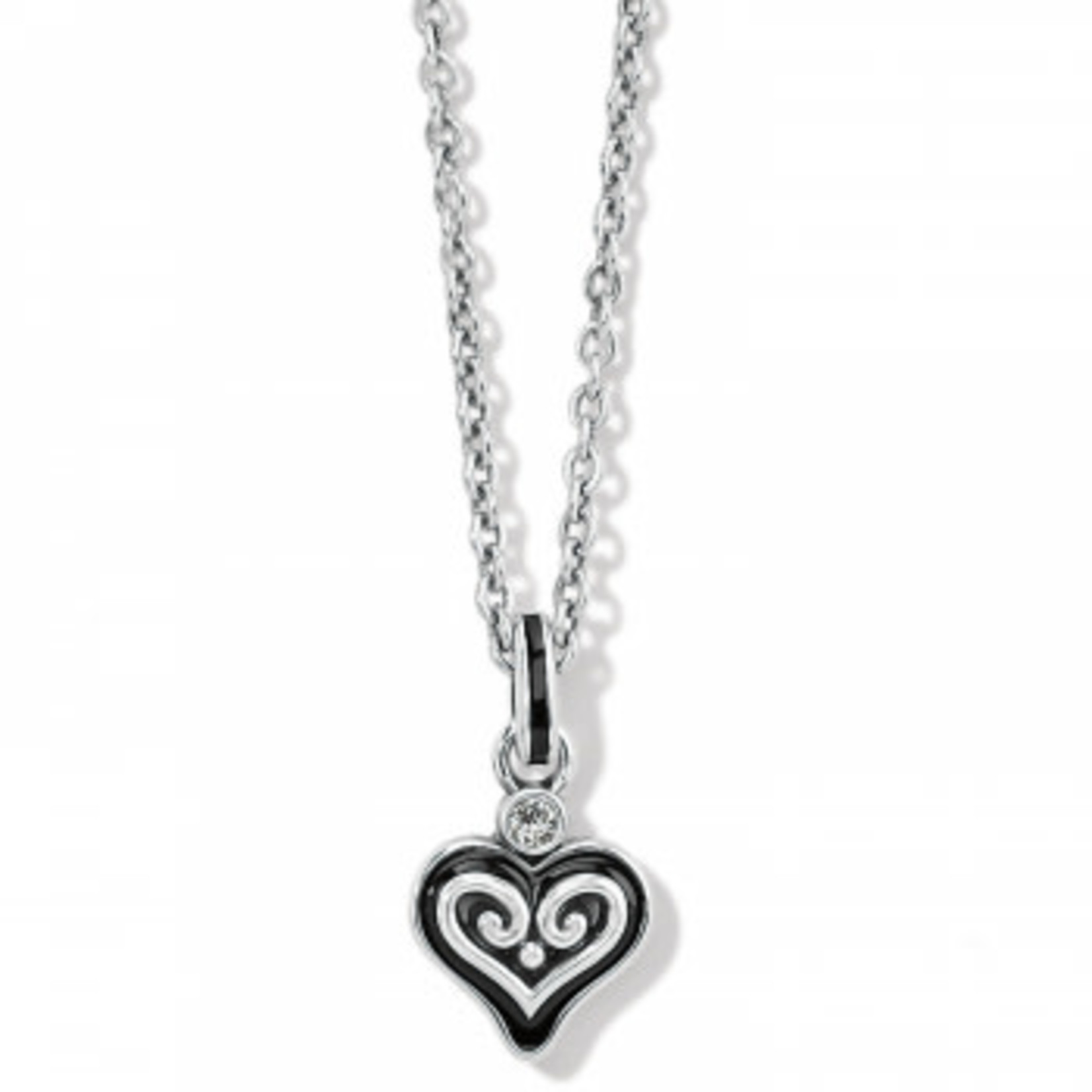 Brighton Alcazar Mystique Heart Necklace - Silver