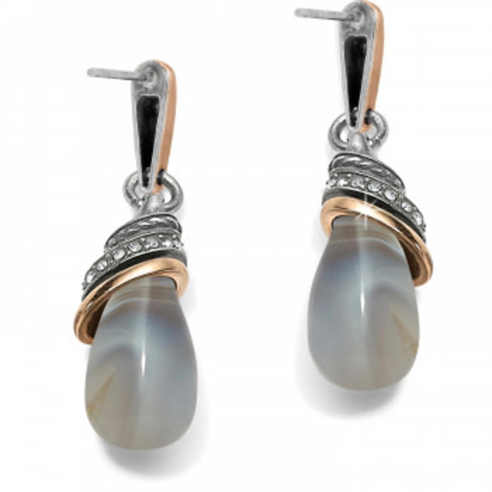Brighton Neptune's Rings Banded Agate Teardrop Earrings