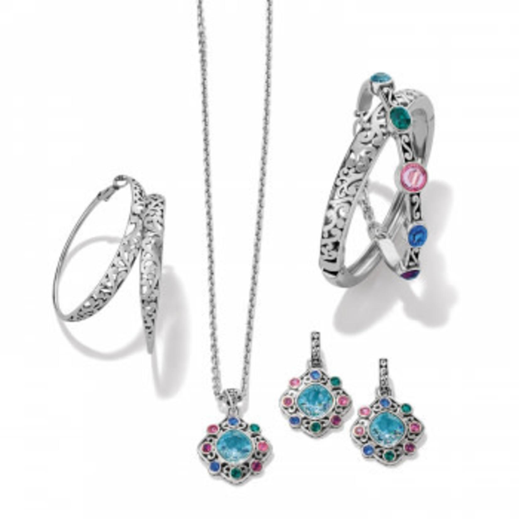 Brighton Elora Gems Palette Post Hoop Earrings - Silver-Multi