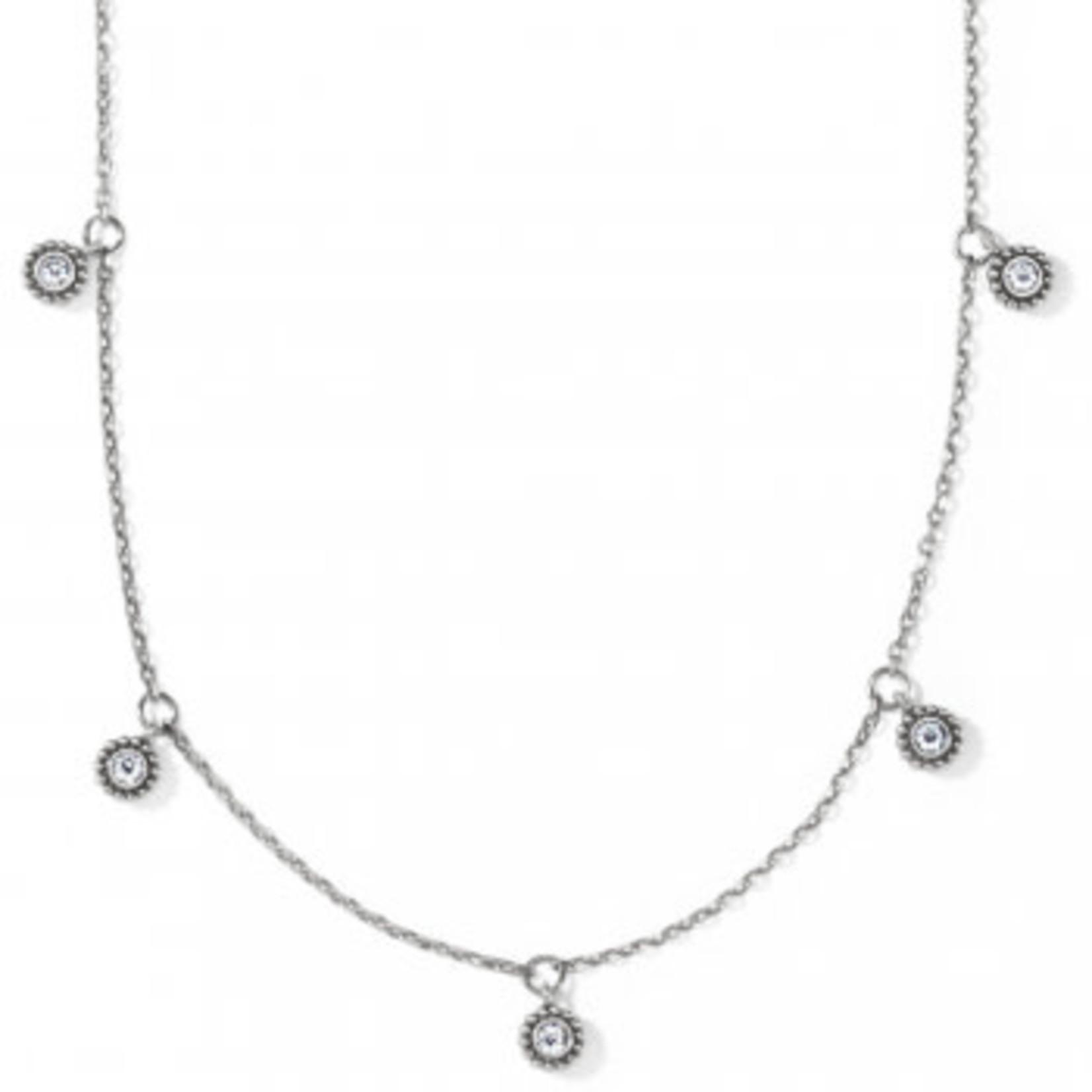 Brighton Twinkle Splendor Droplet Necklace Silver