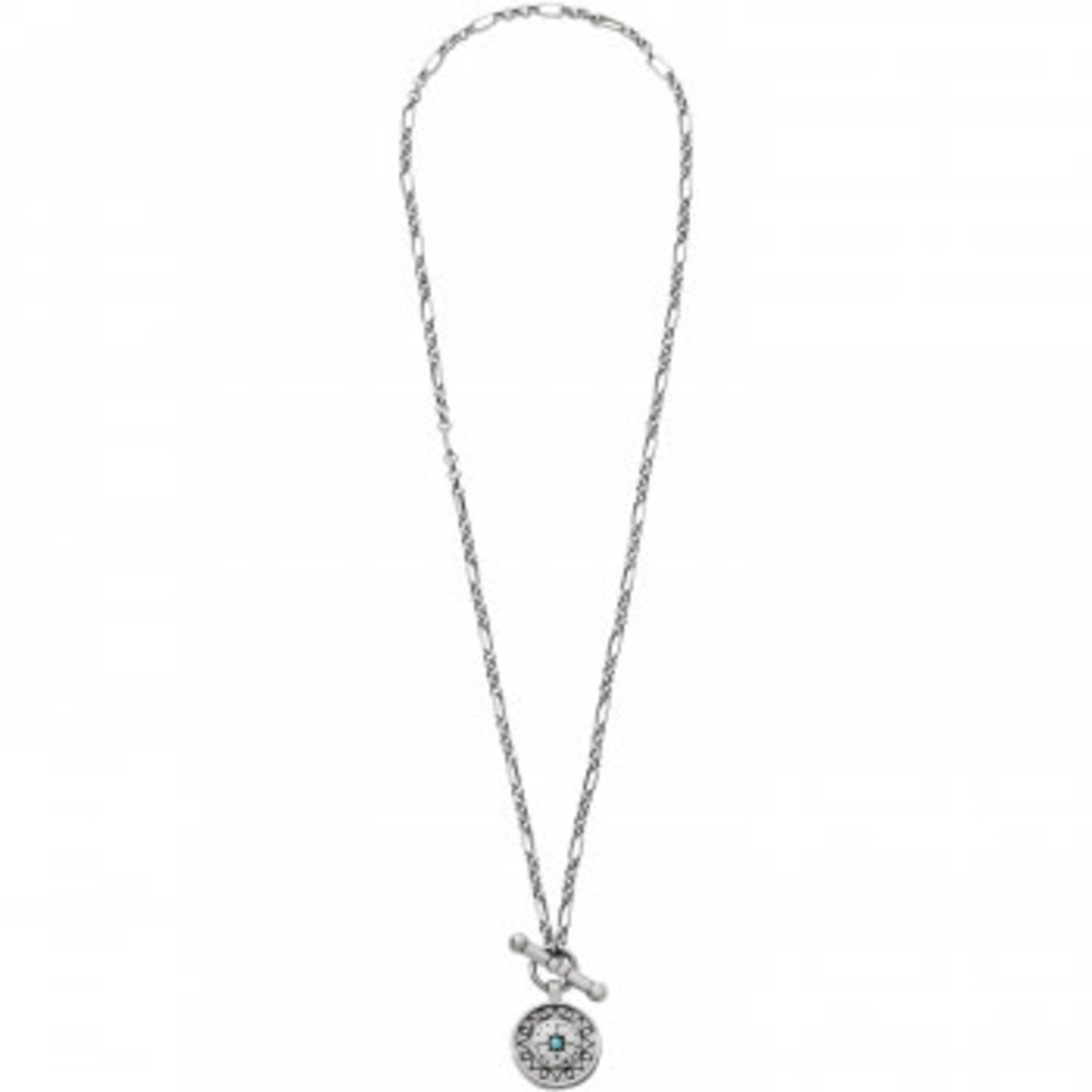 Brighton Marrakesh Mystique Short Toggle Necklace Silver-Turquoise