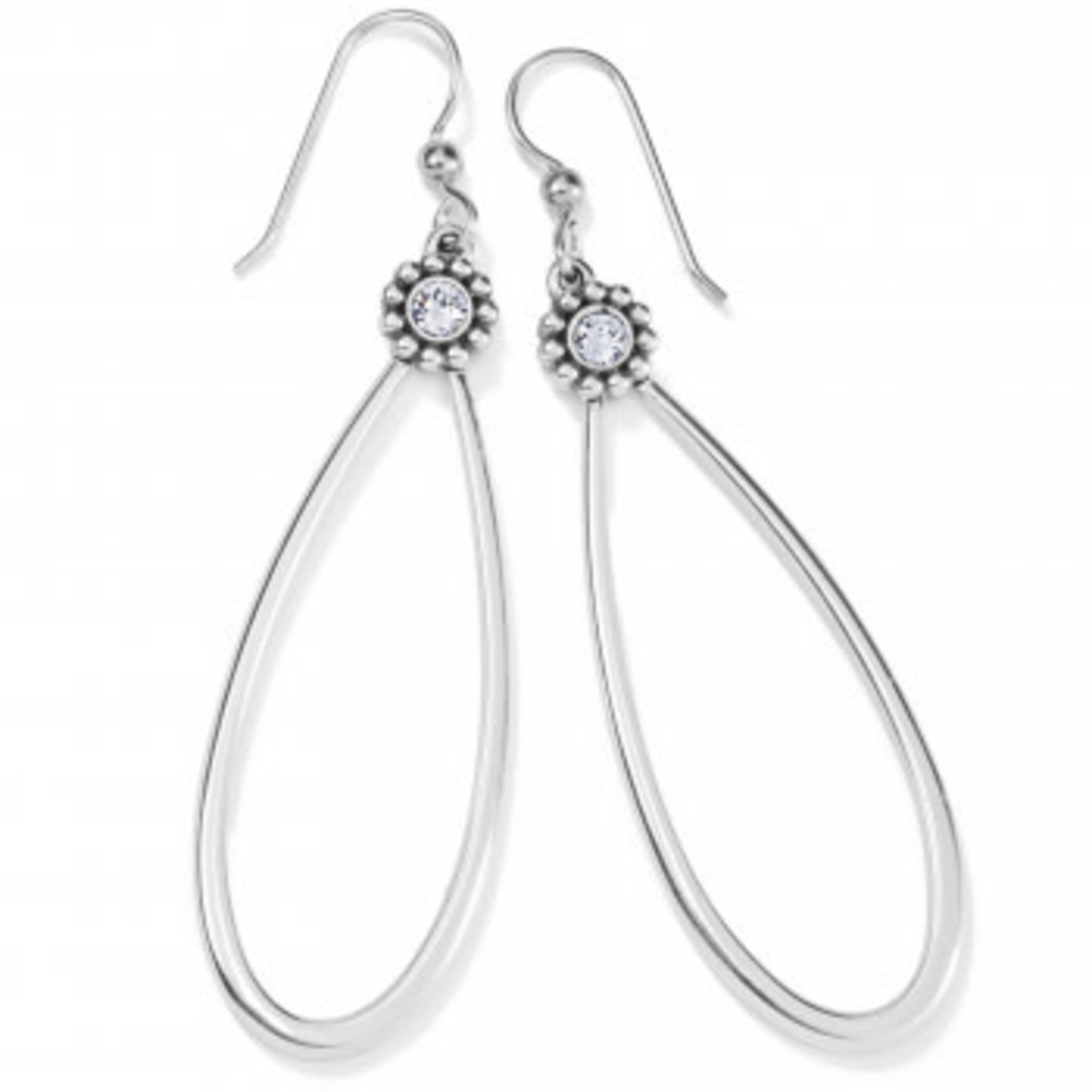 Brighton Twinkle Loop French Wire Earrings Silver OS