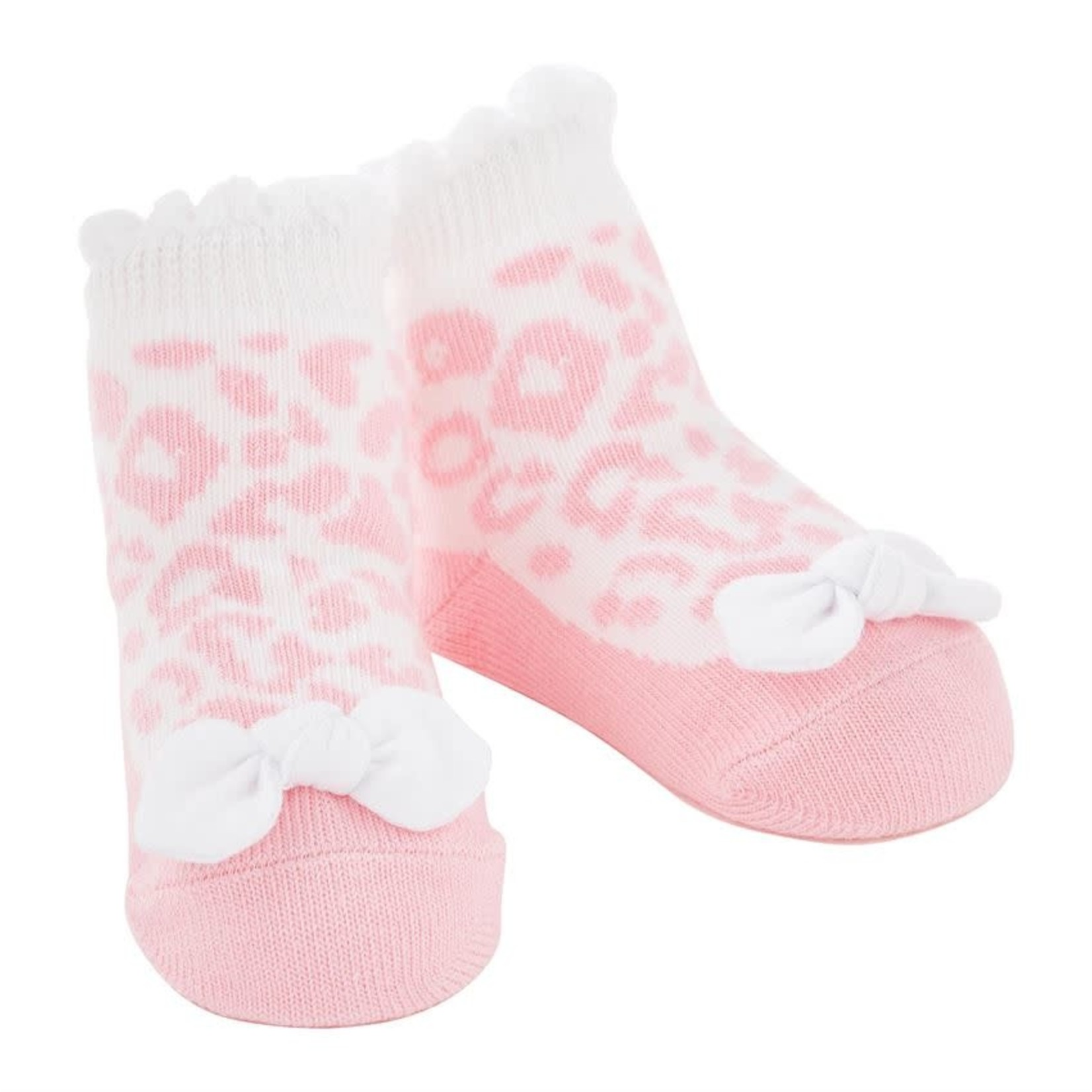 Pink Leopard Socks
