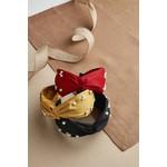 Pearl Twist Knot Headband in Burgundy Red