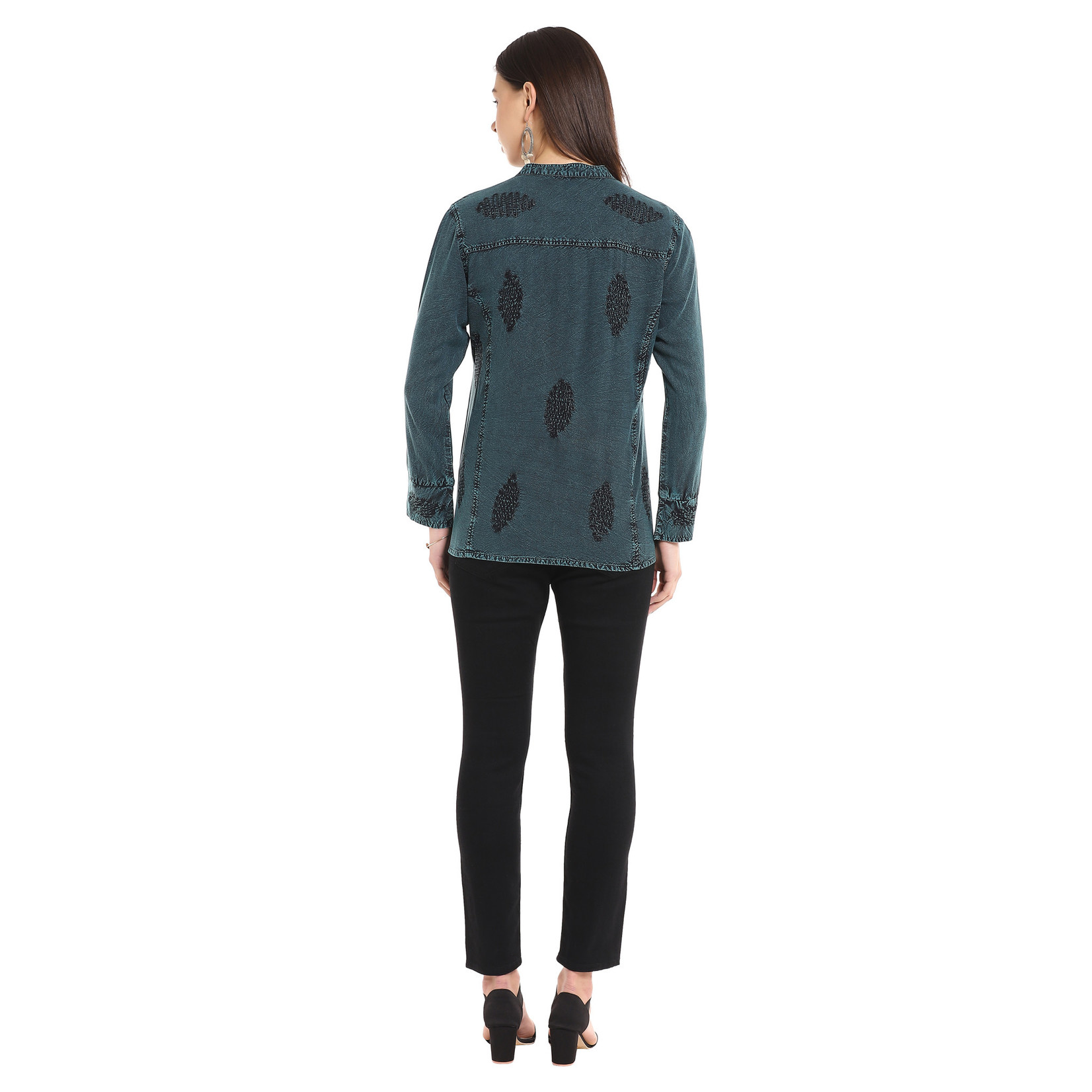 Parsley and Sage Honor Shirt in Teal