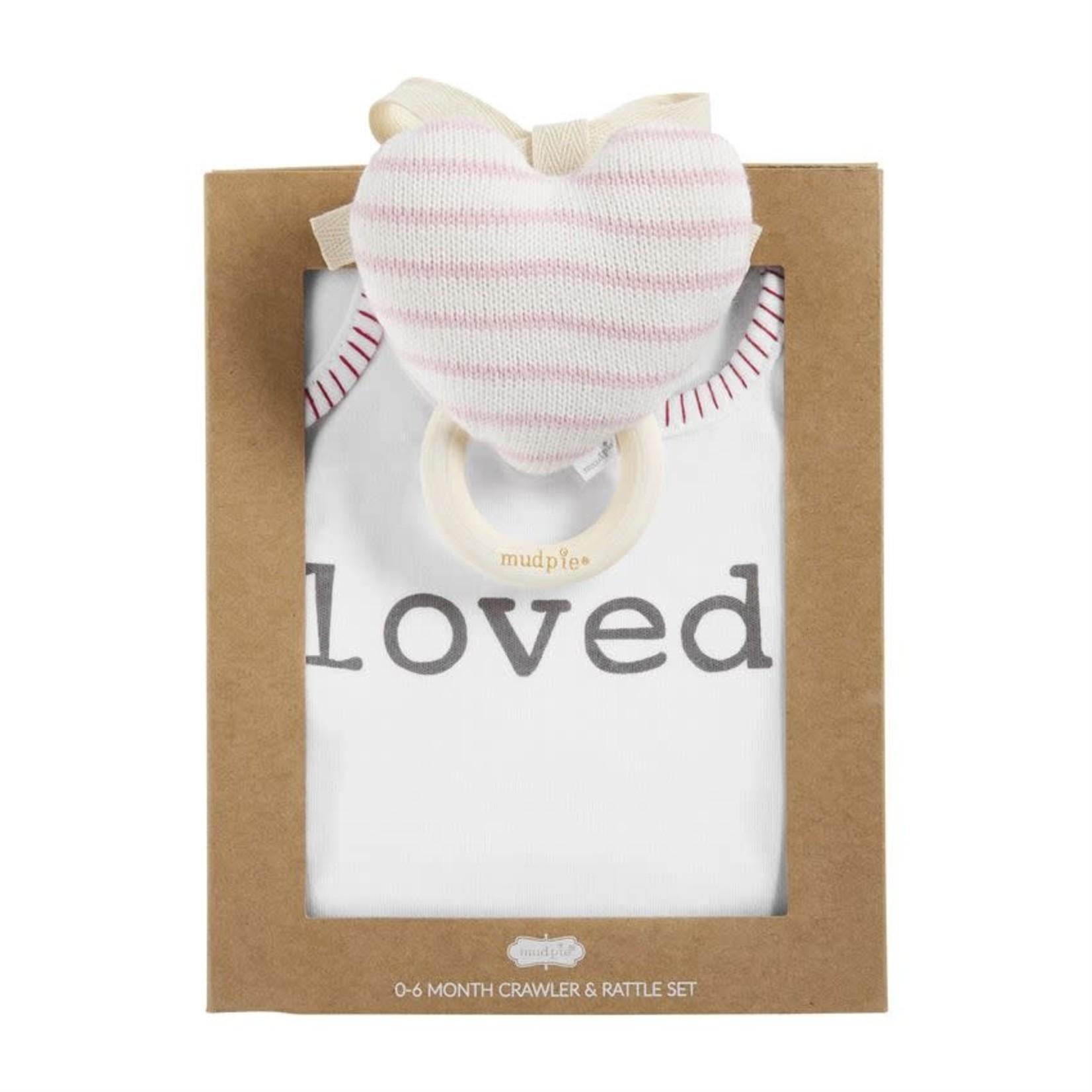 Heart Knit Rattle Gift Set