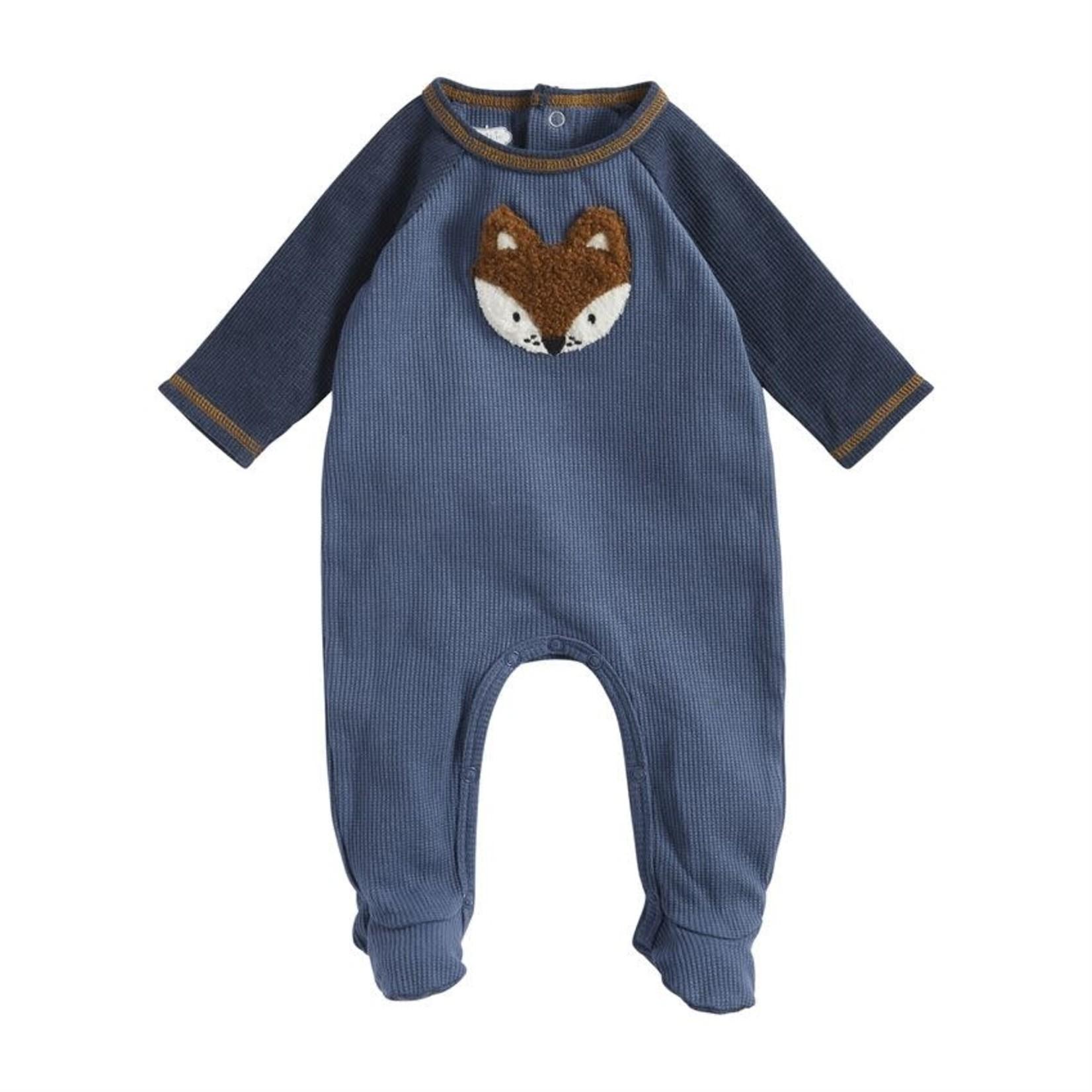 Fox Blue Corduroy Sleeper 3-6 mo.