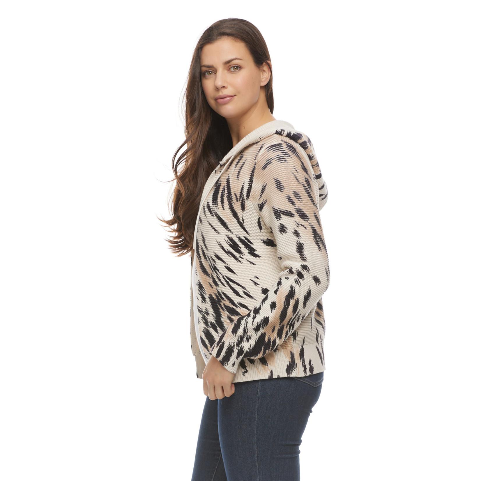 FDJ Animal Print Hoodie Sweater