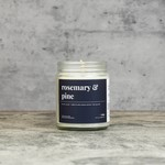 Candelles Soy Candles Rosemary and Pine 9 oz Soy Candle