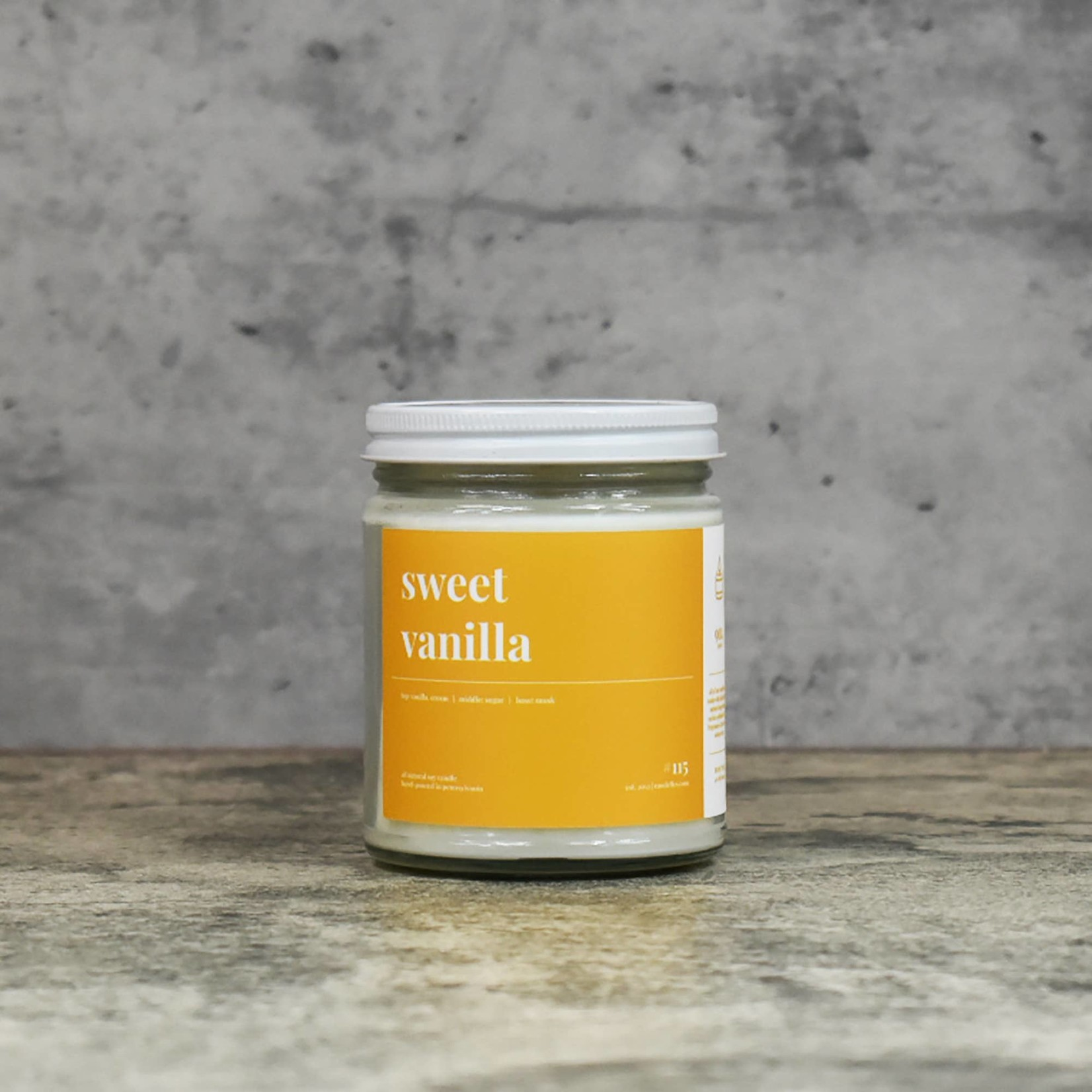 Candelles Soy Candles Sweet Vanilla 9 oz Soy Candle