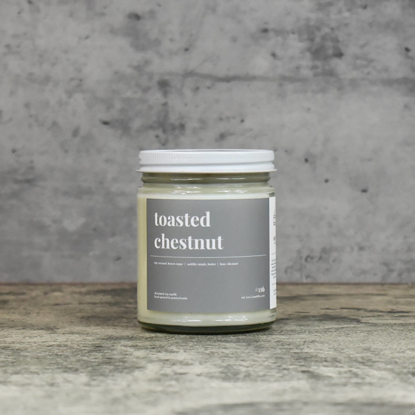 Candelles Soy Candles Toasted Chestnut 9 oz Soy Candle
