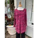Color Me Cotton Seamed Print Tunic w/ Scoop Pockets in Vintage Shiraz