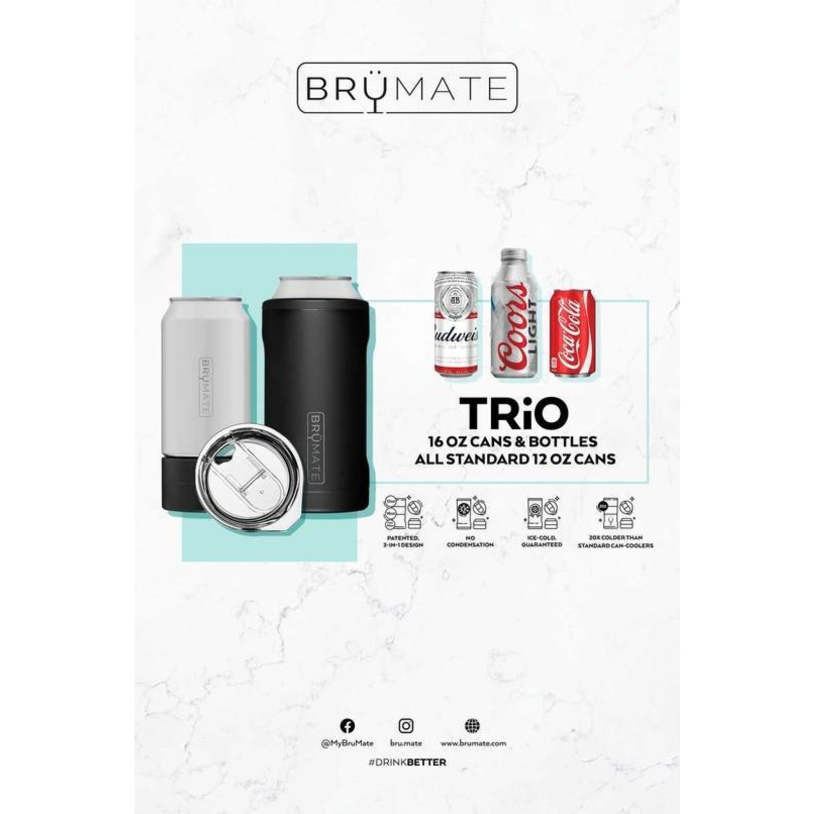 BruMate Hopsulator Trio in Glitter Mermaid