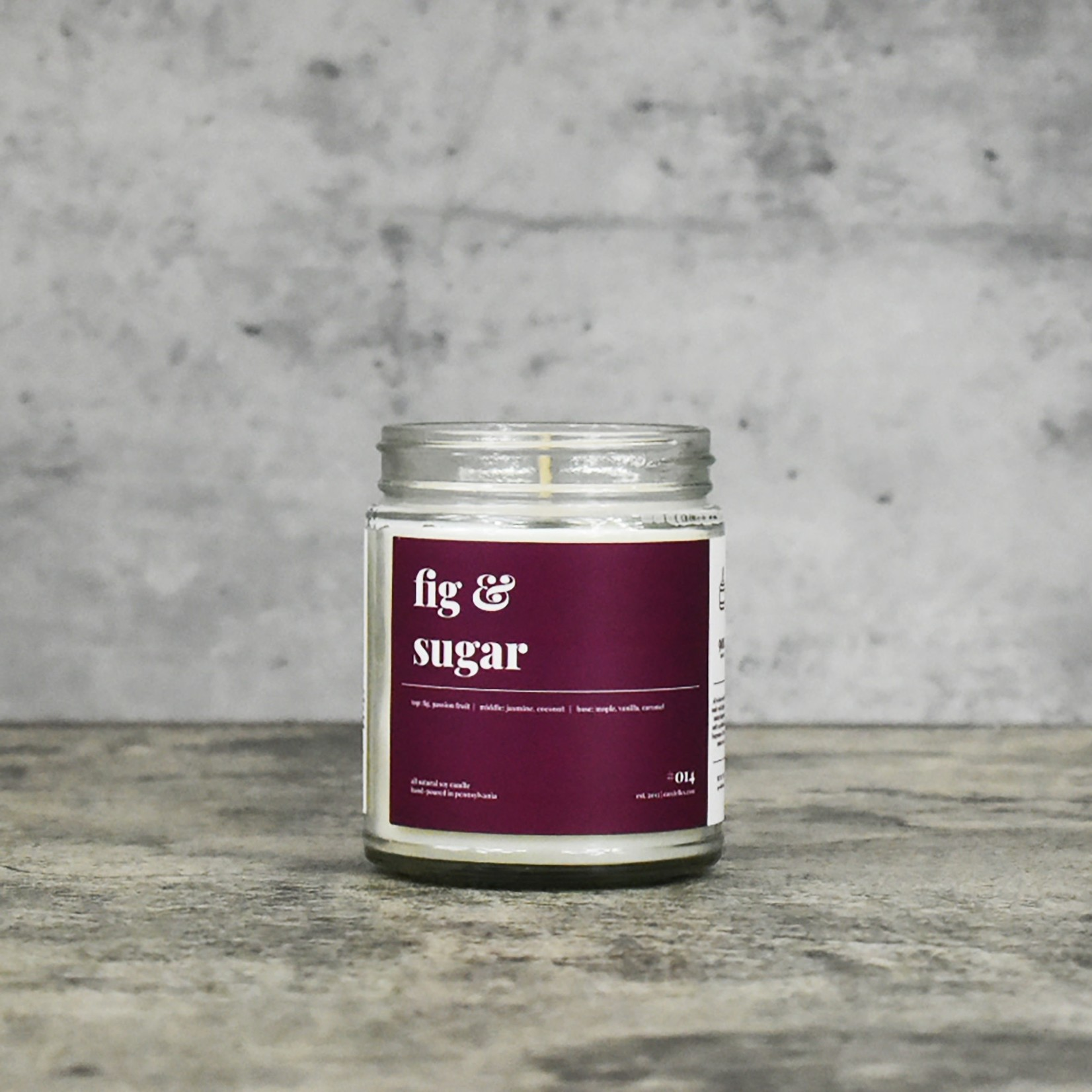 Candelles Soy Candles Fig & Sugar 9 oz Soy Candle