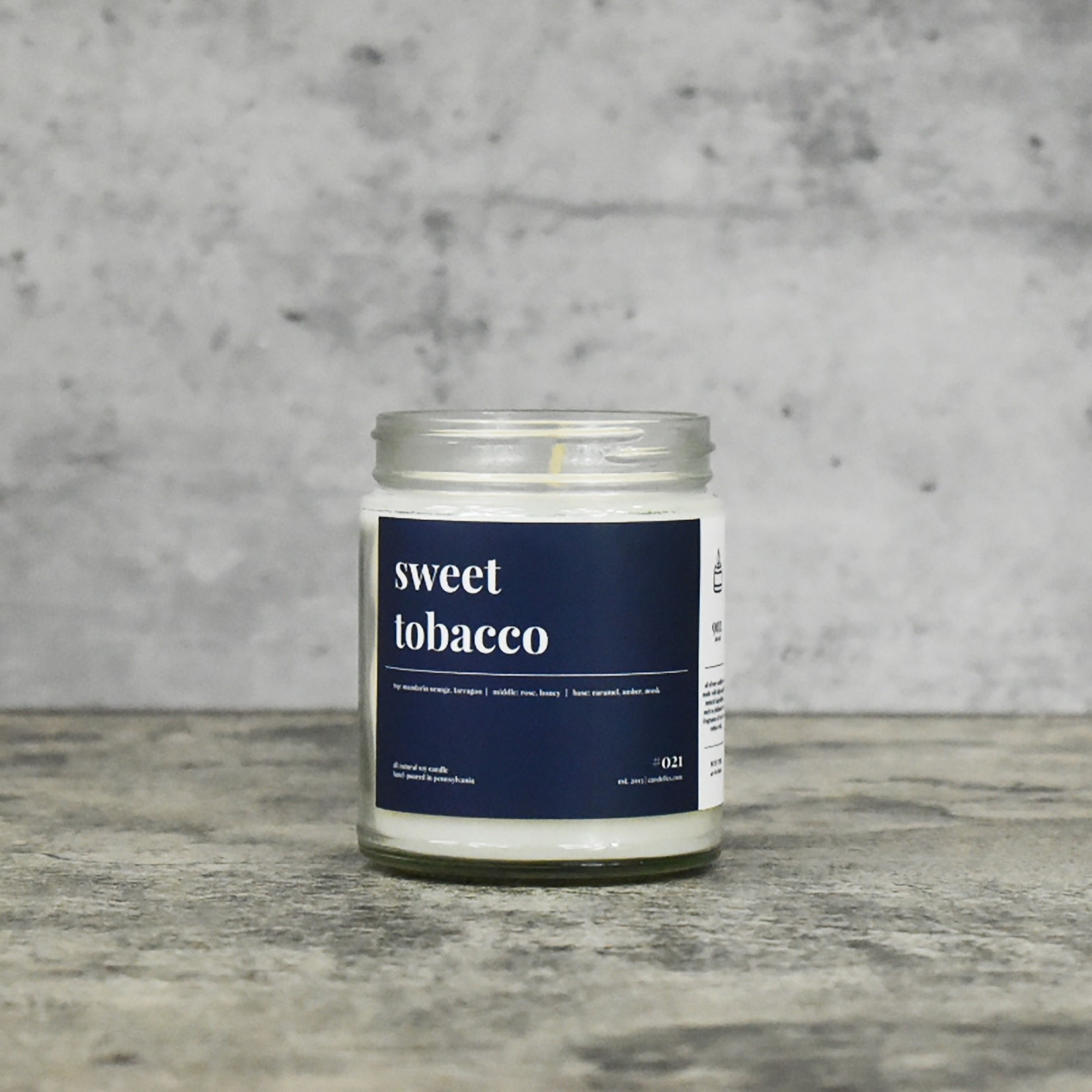 Candelles Soy Candles Sweet Tobacco 9 oz Soy Candle