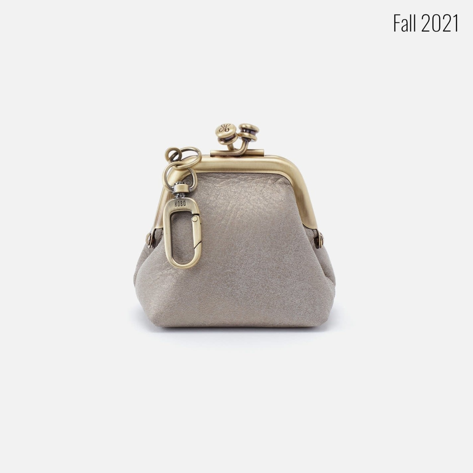 HOBO Run Granite Gold Soft Leather Frame Pouch