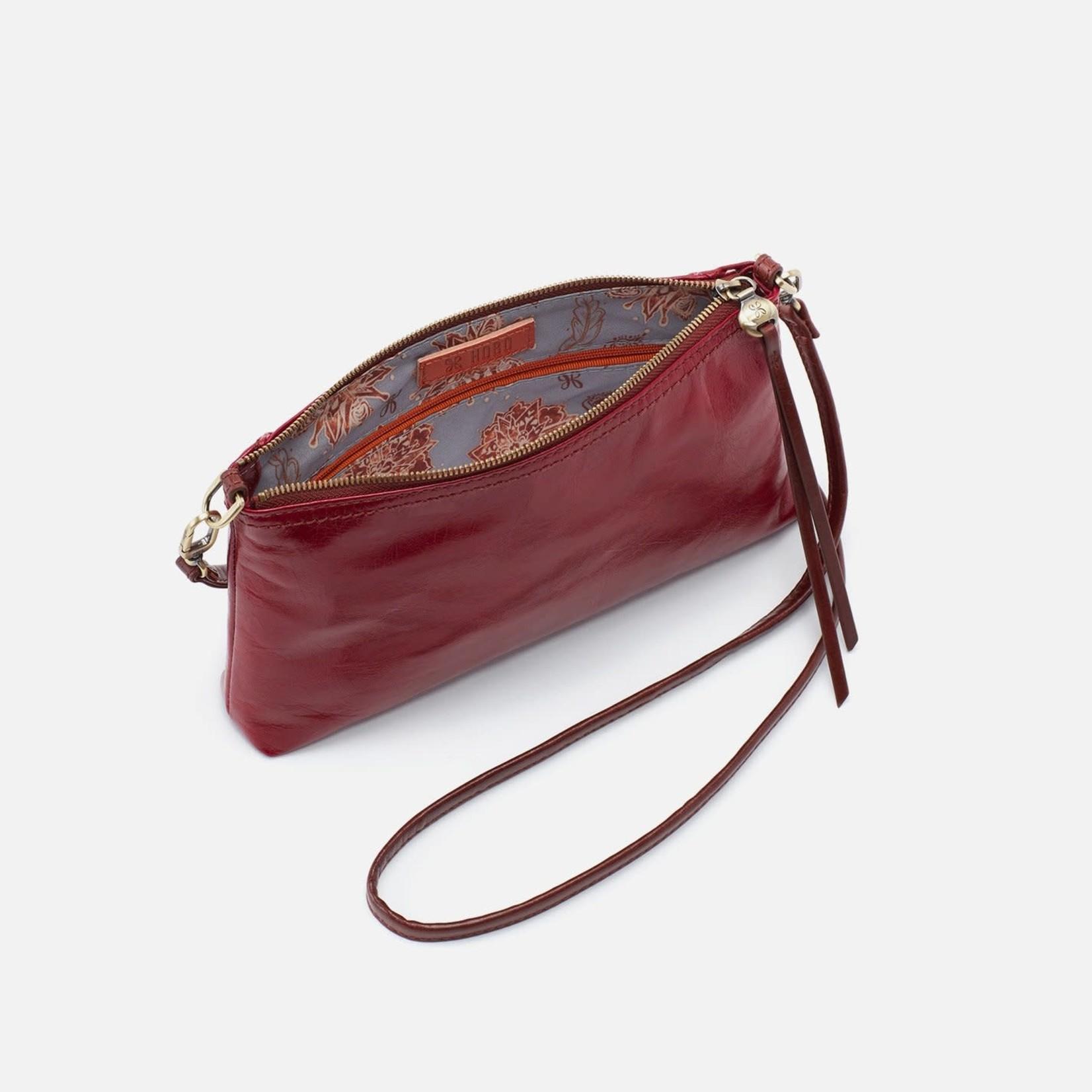HOBO Darcy Cardinal Vintage Hide Leather Wristlet/Crossbody
