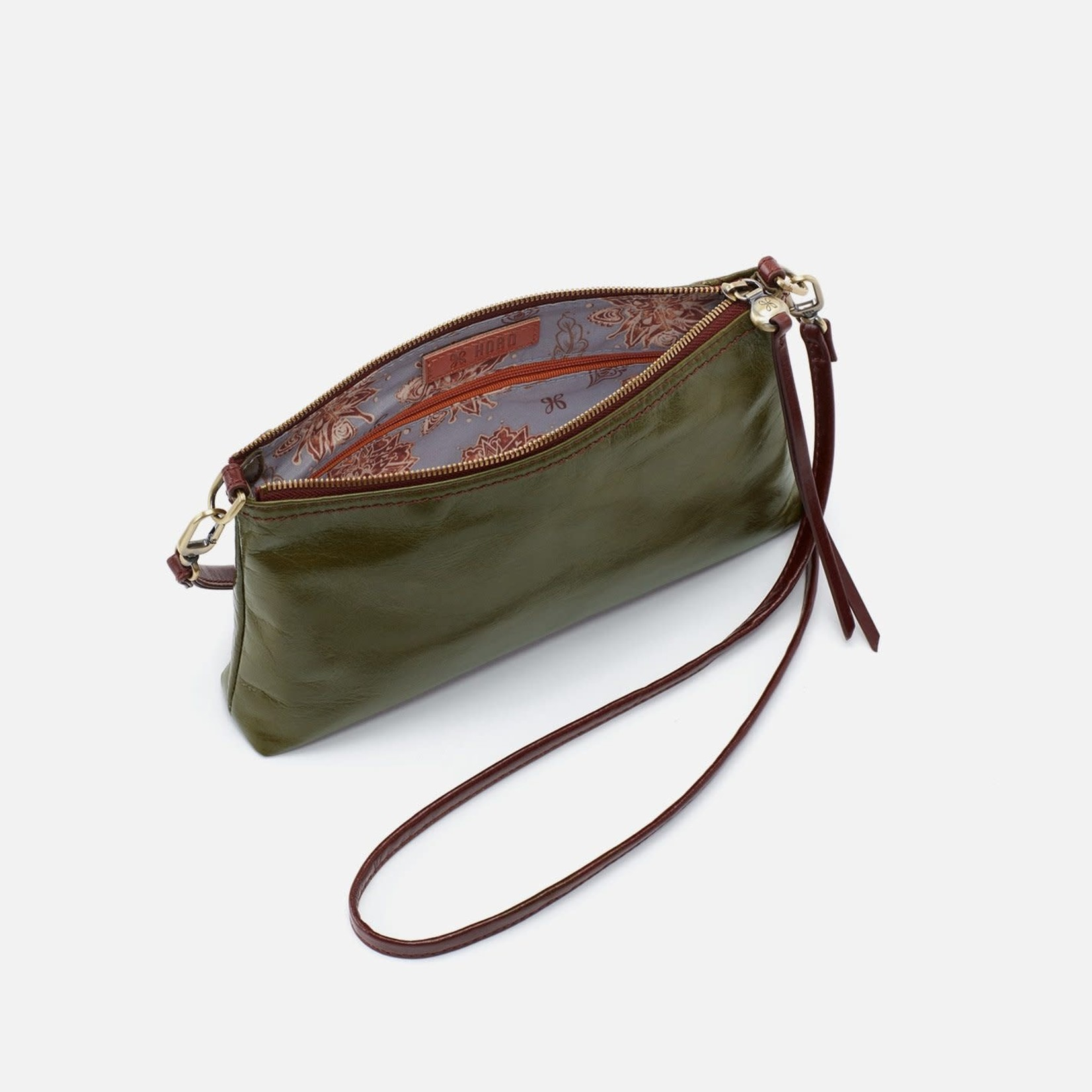 HOBO Darcy Moss Vintage Hide Leather Wristlet/Crossbody