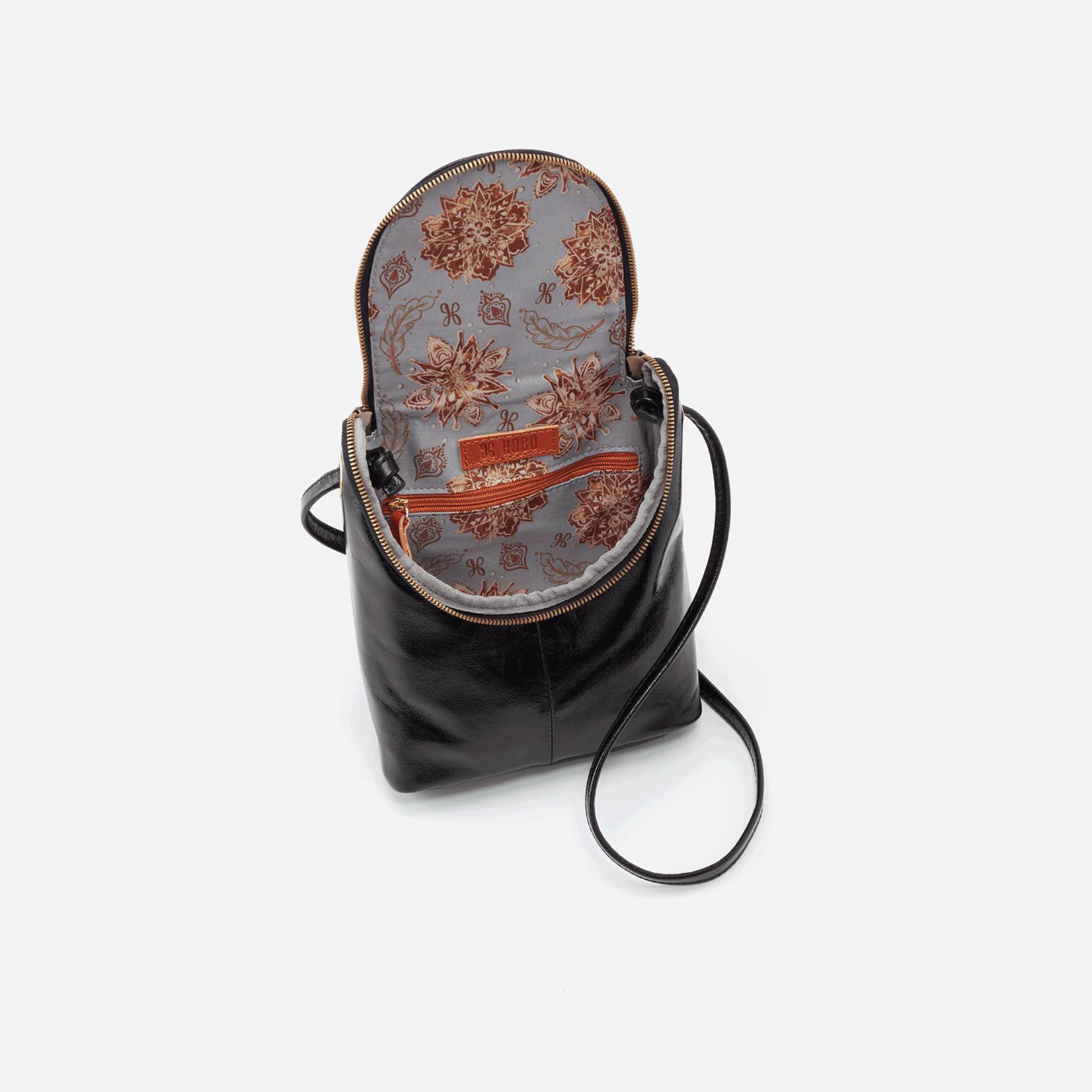 HOBO Fern Black Vintage Hide Leather Crossbody
