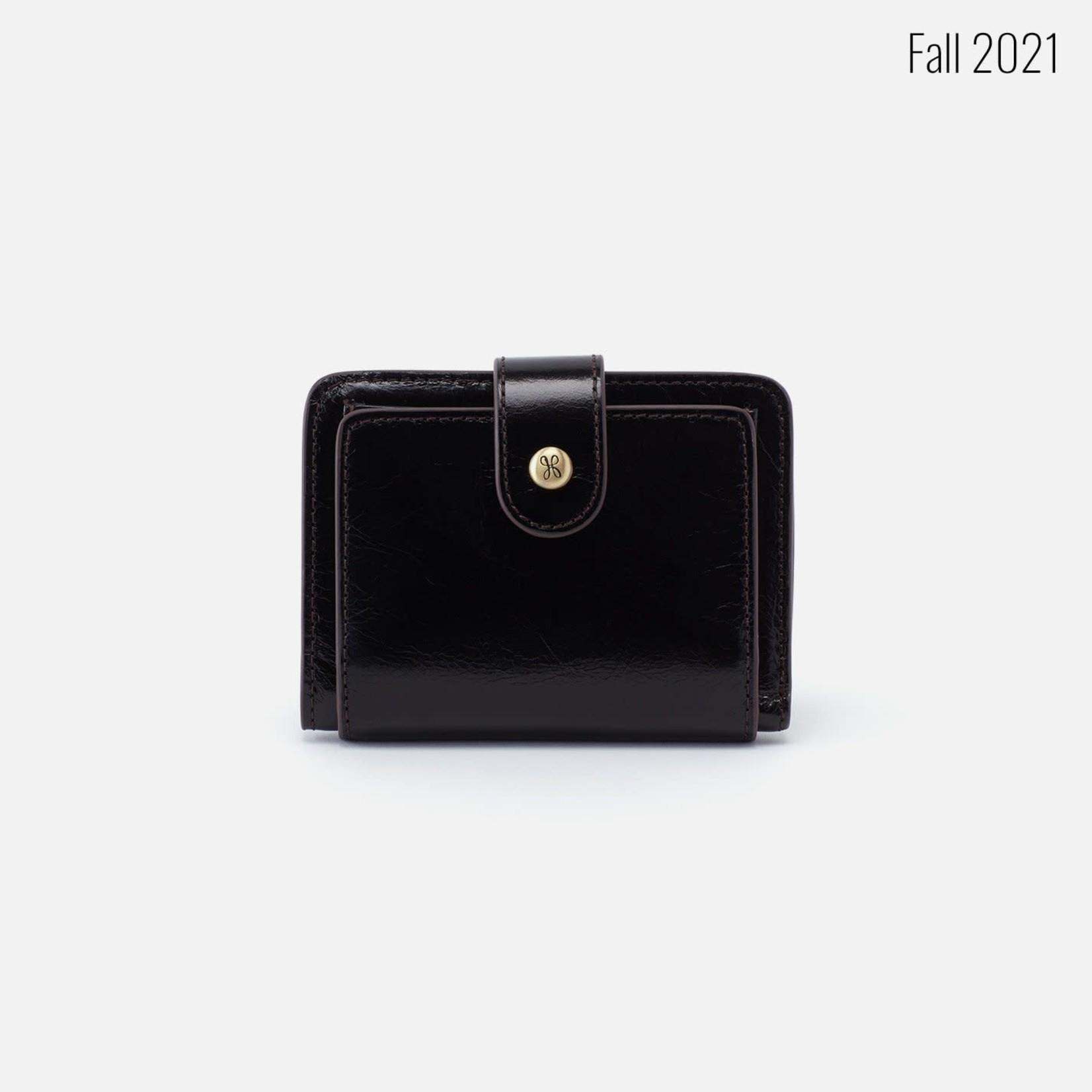 HOBO Vow Black Vintage Hide Leather Wallet