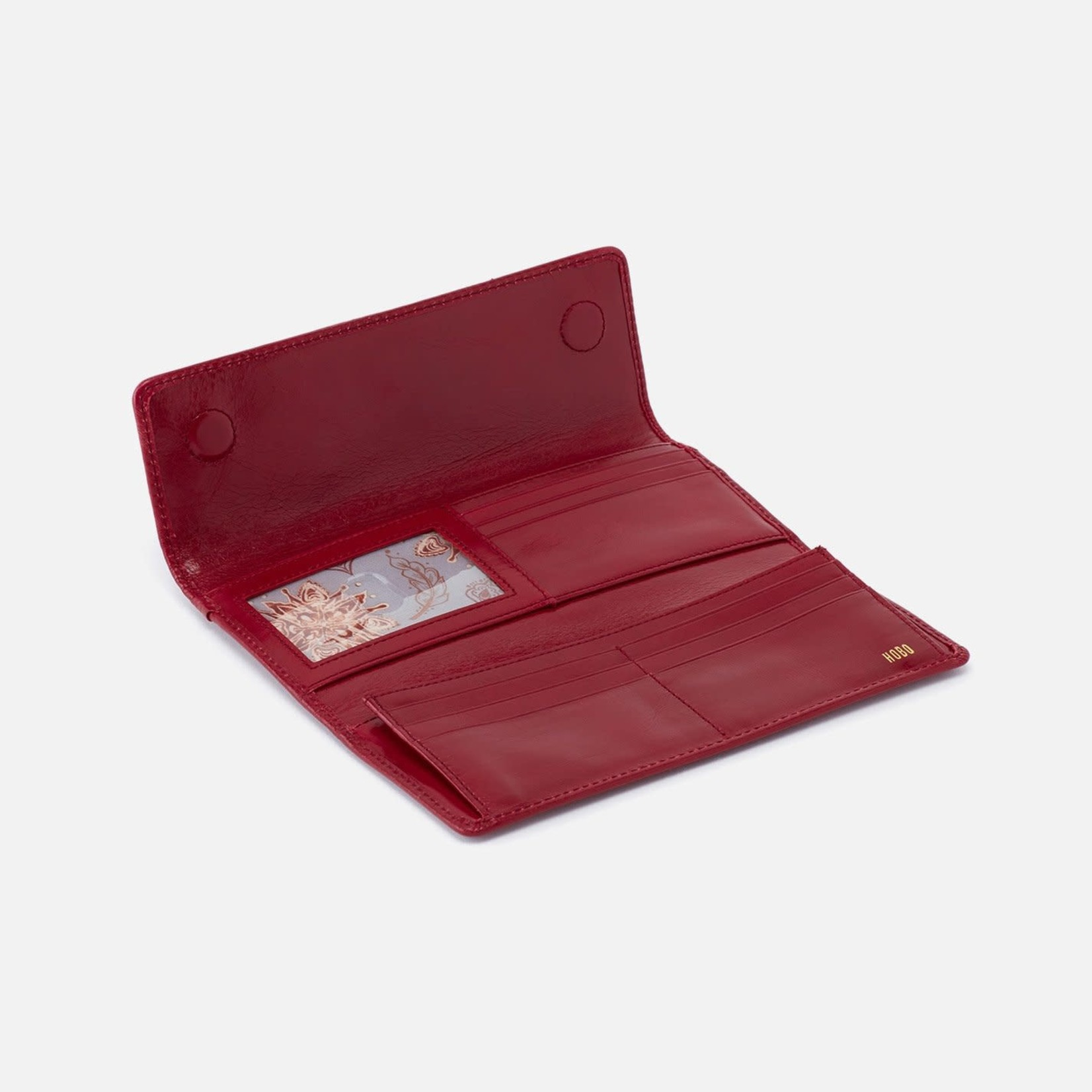 HOBO Ardor Cardinal Vintage Hide Leather Continental Wallet