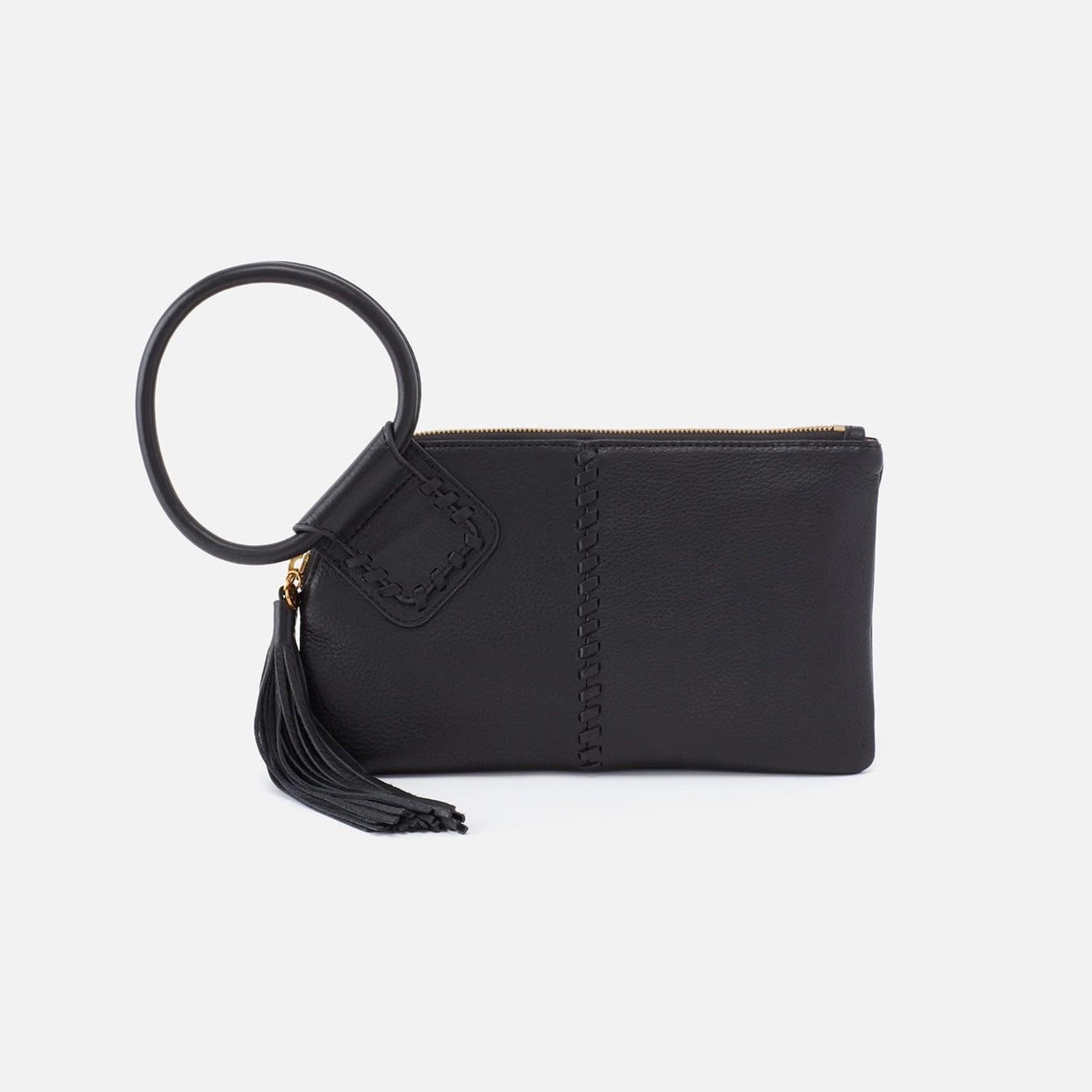 HOBO Sable Black Pebbled Leather Wristlet w/Loop