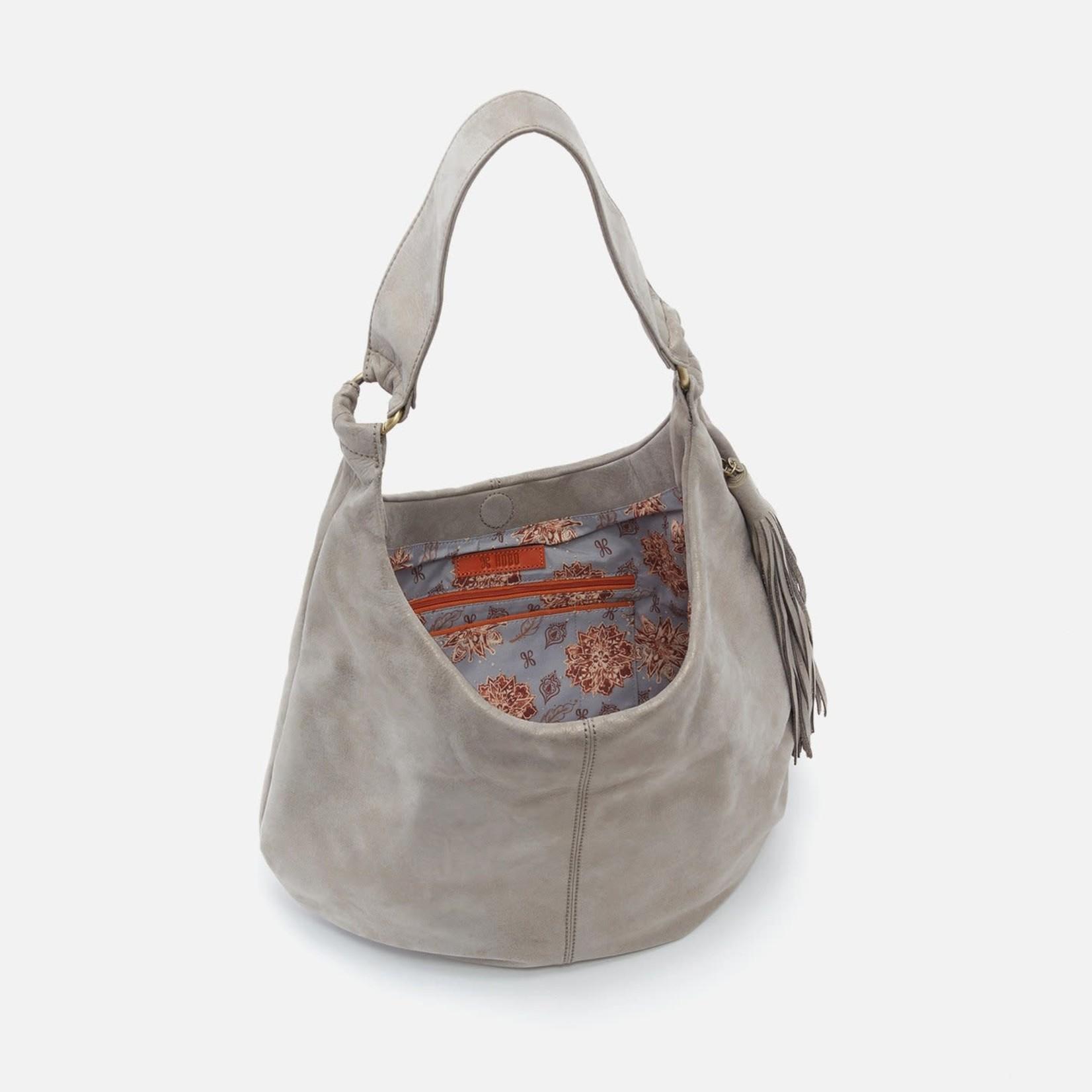 HOBO Gardner Granite Gold Leather Hobo Bag