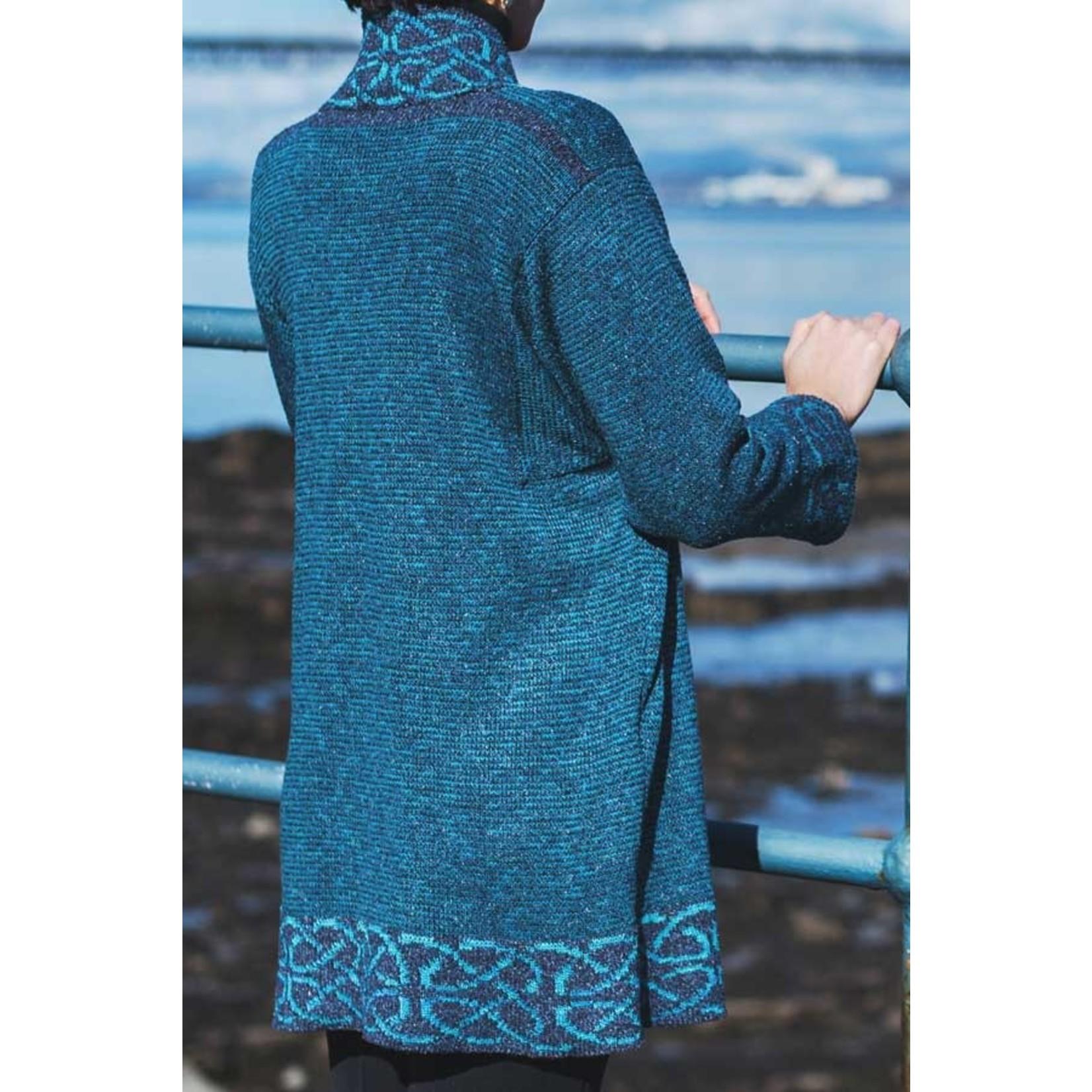 Bill Baber Long Mull Jacket in Dark Turquoise