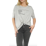 Los Angeles Trading Co Fluent French One Size Tee in Grey