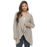 FDJ Donegal Mix Cables Cardigan in Light Sand